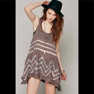 NWT Free People Womens Voile Trapeze Slip Black XS